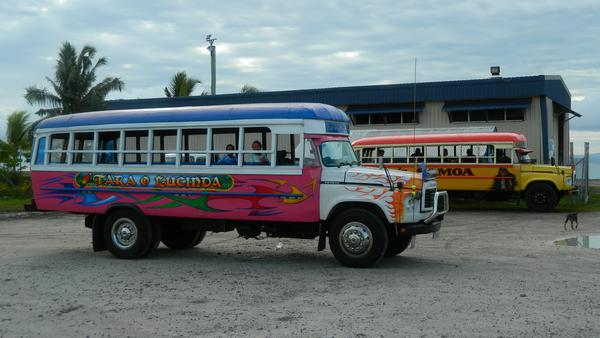 Typical bus in Samoa