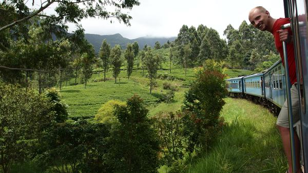 Train from Kandy to Nuwara Elliya