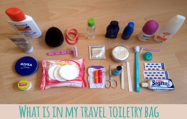 what is in my travel toiletry bag