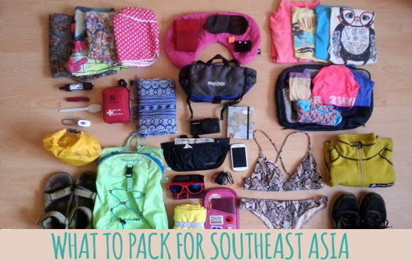 what to pack for southeast asia
