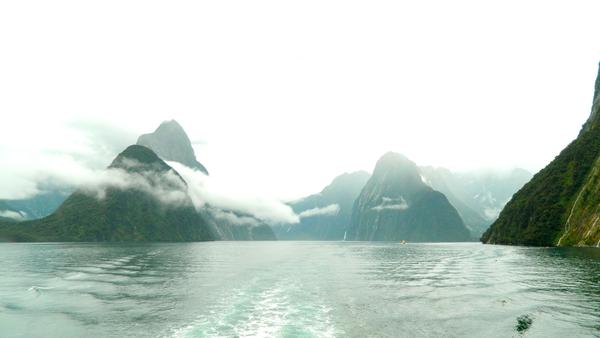 Milford Sounds with Mitre peak
