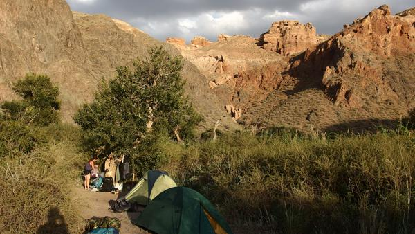 Camping in Charyn Canyon